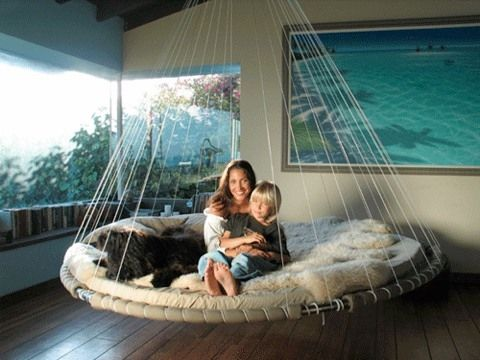 floating bed   like a family sized hammock     totally gonna go in a sun room or on a porch floating bed dwelling therapy   the great outdoors   pinterest      rh   pinterest