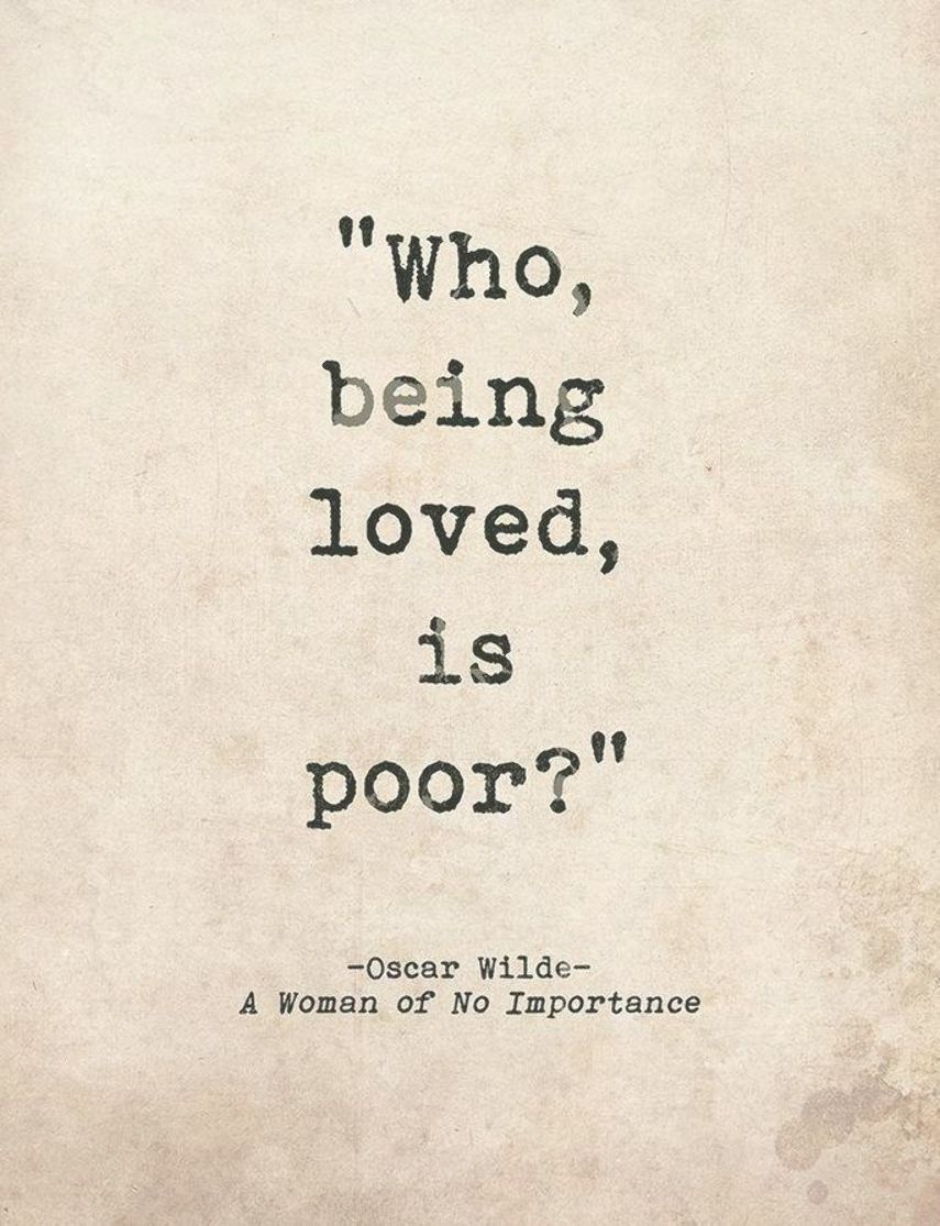 r tic quote poster a w of no importance by oscar wilde