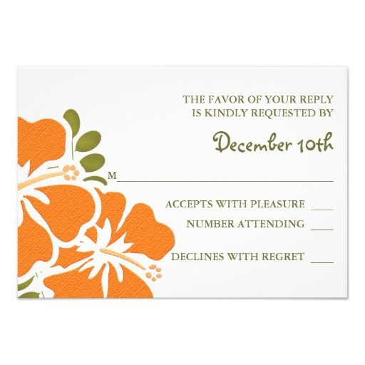 ORANGE HIBISCUS RSVP WEDDING RESPONSE CARDS today price drop and special promotion. Get The best buyShopping ORANGE HIBISCUS RSVP WEDDING RESPONSE CARDS Review on the This website by click the button below...