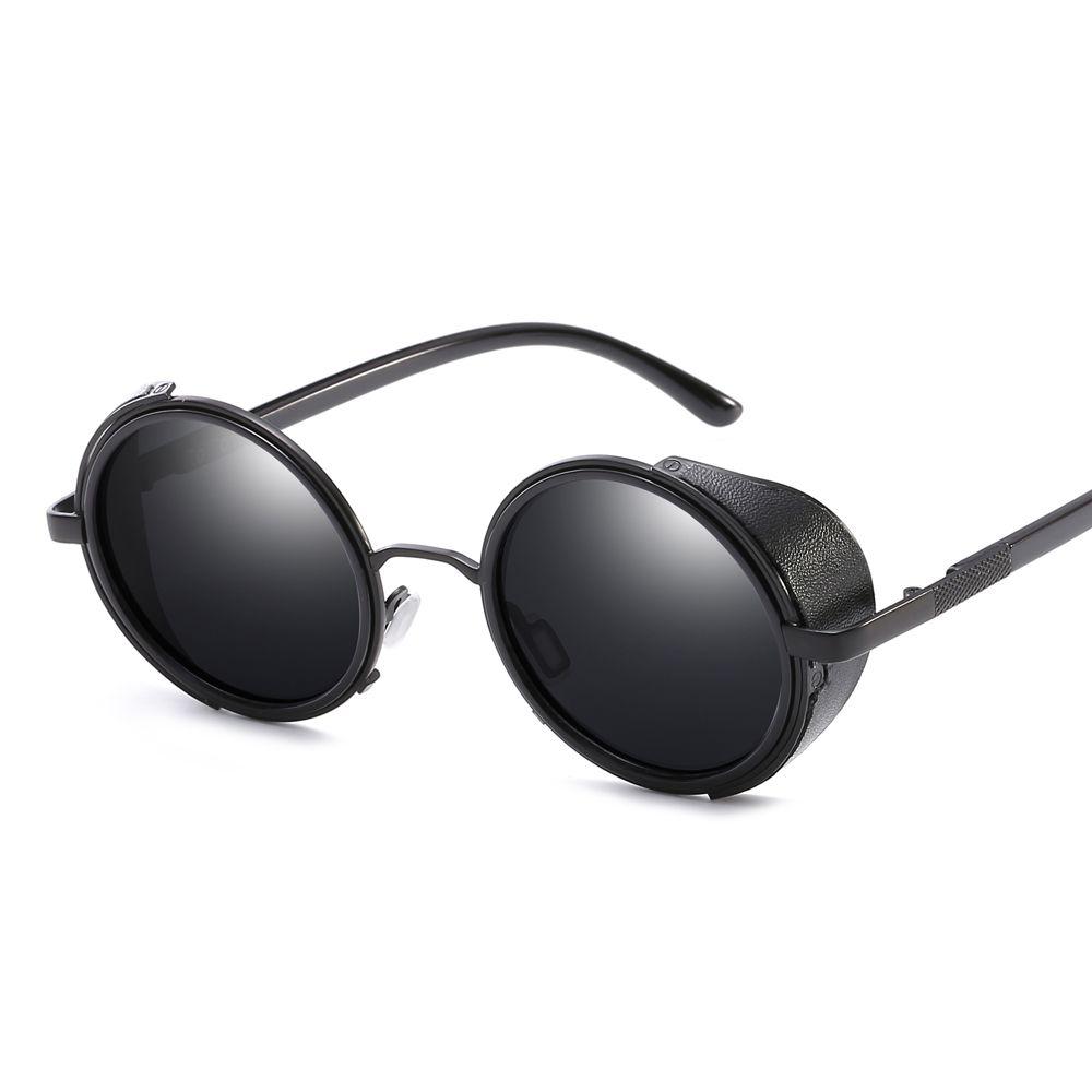 b42f71a8ff  11.41 Peekaboo side shield sunglasses men round metal frame 2019 gold  black steampunk sun glasses for women retro uv400  shieldsunglasses   steampunk