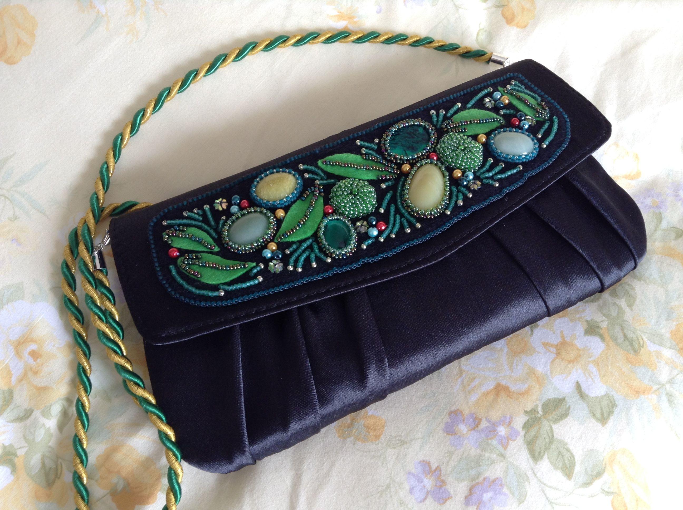"""Hand embroidered clutch by """"yours truly"""""""