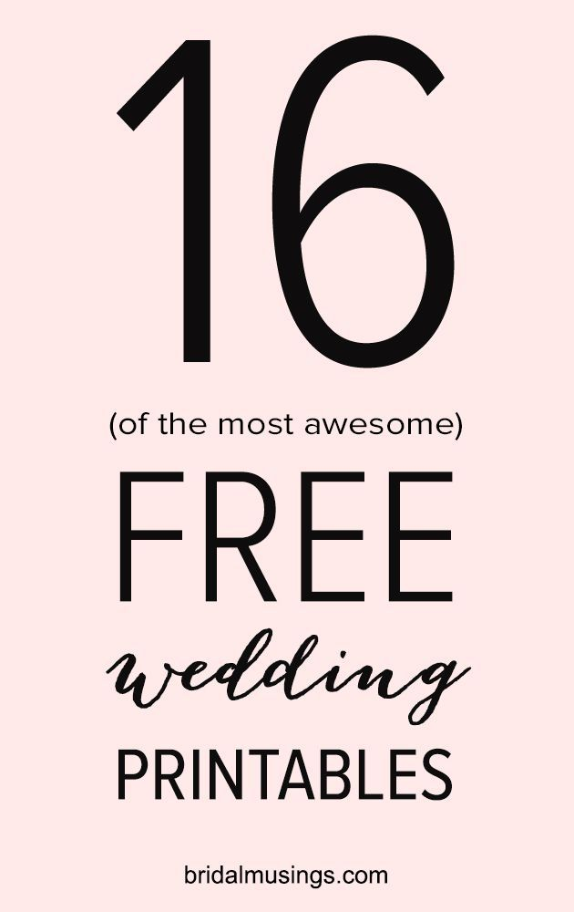 Free Wedding Printables.16 Gorgeous And Free Printables For Your Wedding Free