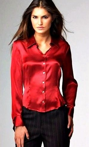 d410760ff Satin Blouses: Red Satin Blouses - For Women   Skirts,Heels,Nails ...