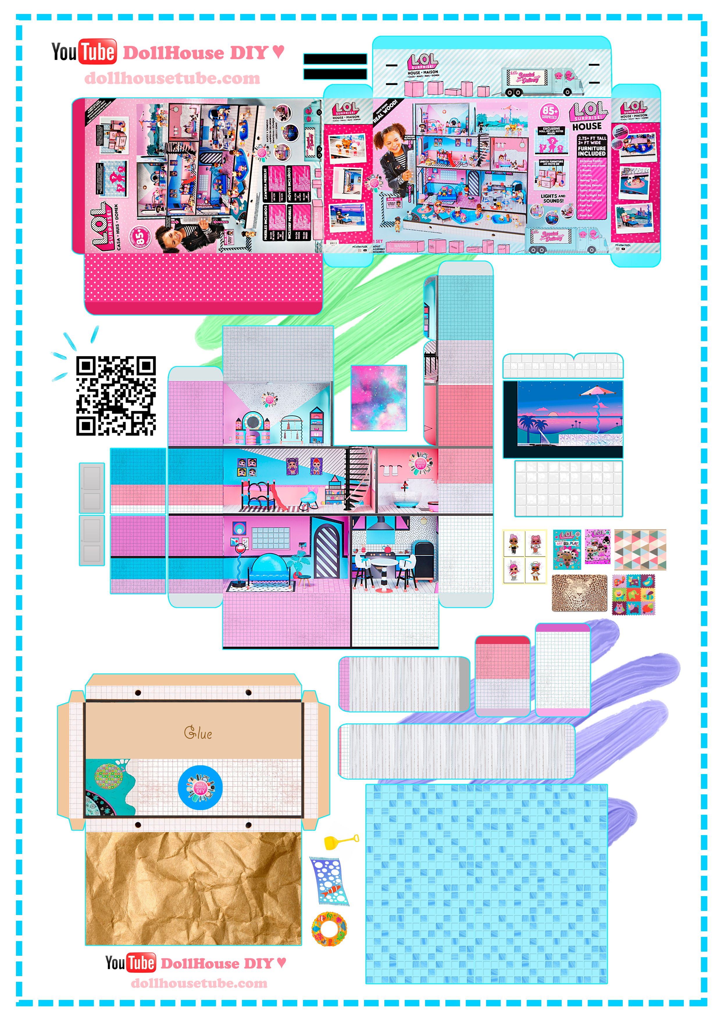 Miniature Big Lol Surprise House And Box Printables Slime
