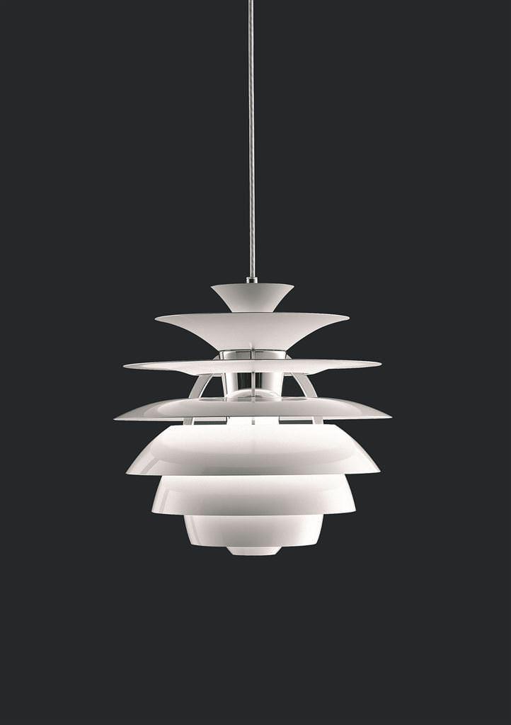 Wohl eine der bekanntesten designerlampen ist der poul henningsen snowball 100 blendfreis - Coole deckenleuchten ...