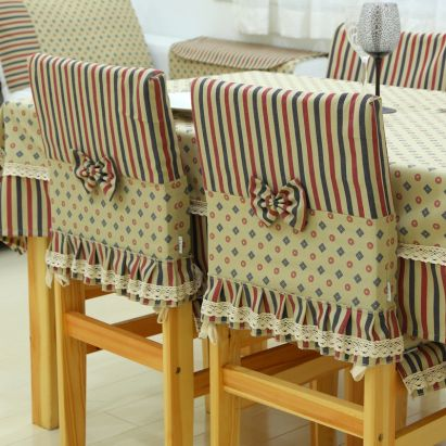 Classic Fabric Romantic Dining Chair Cloth Nostalgia Sets At Home  Decoration American Style Chair Covers Chair Cover