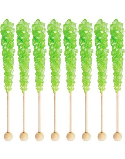 green rock candy Rock candy sticks, Rock candy, Candy party