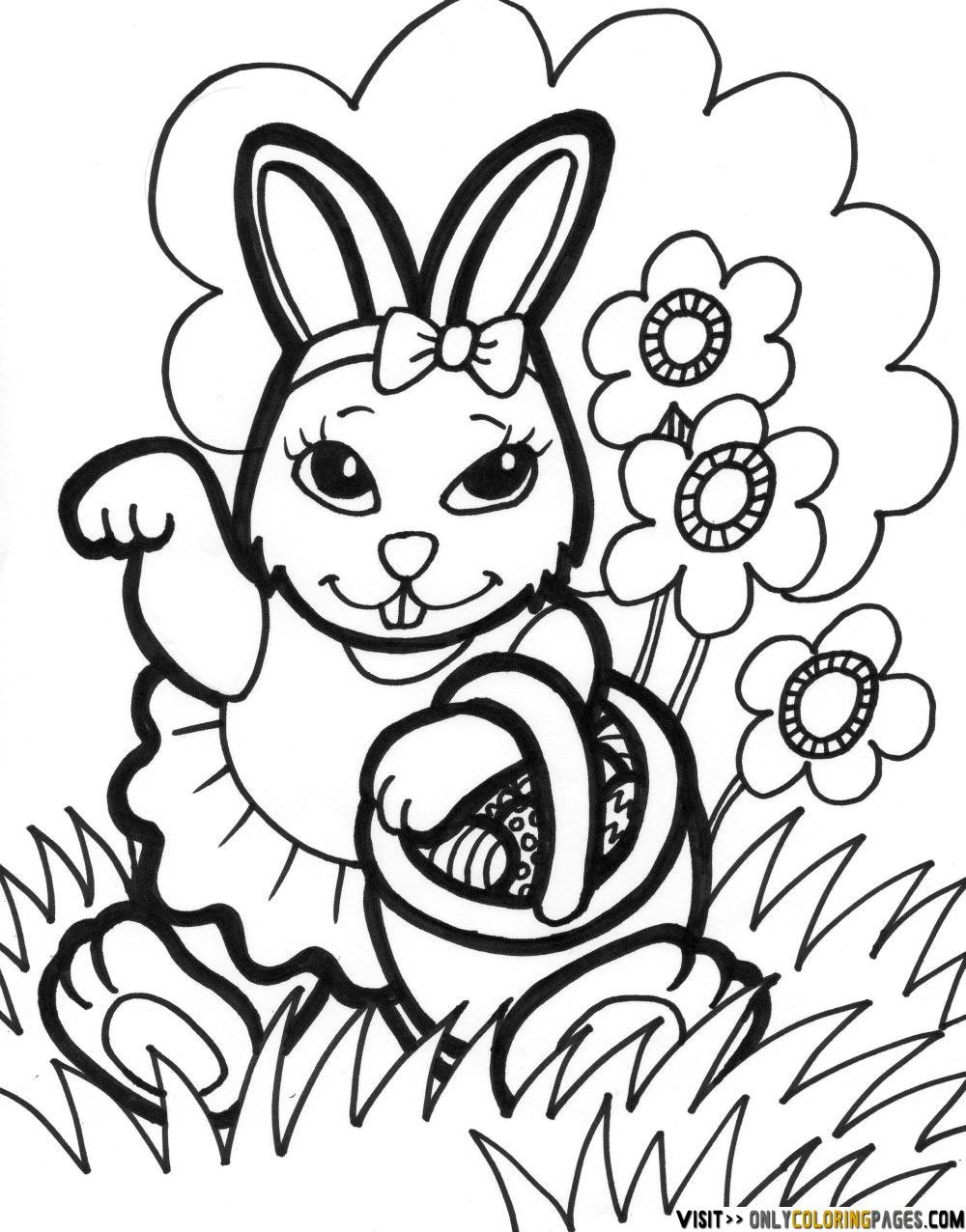 easter bunny coloring pages | Easter - Crafts/Decorations ...