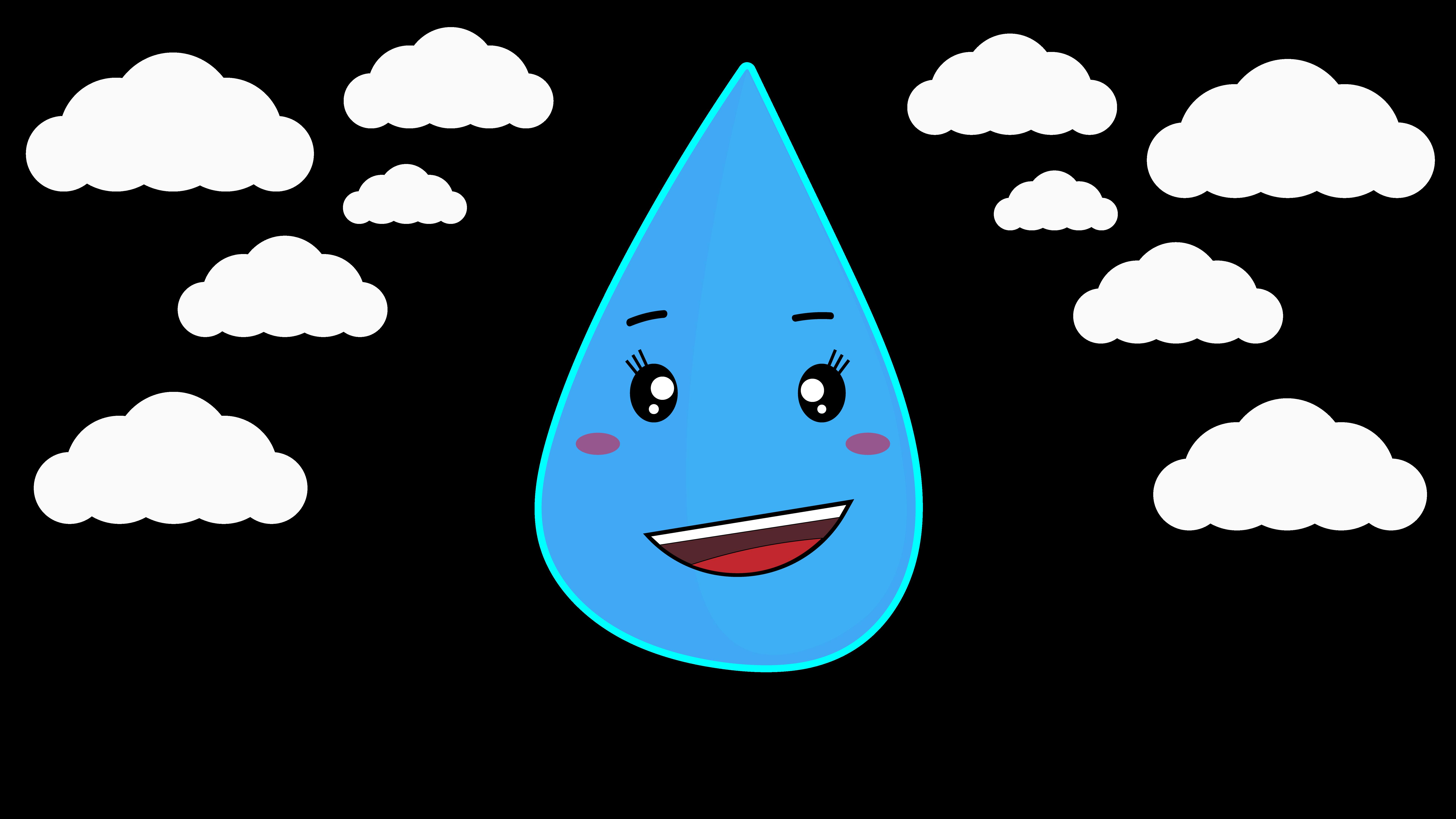 Kawaii Raindrop If You Want The Vector Just Click On It Raindrop Drawing Cute Cartoon Kawaii