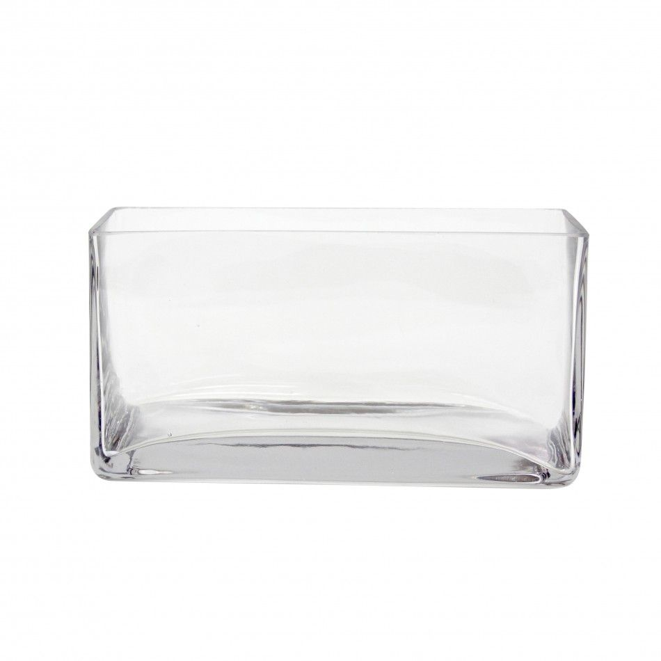 8 x 4 x 4 Rectangular Glass Vase, 6-Pack [404353] : Wholesale ...