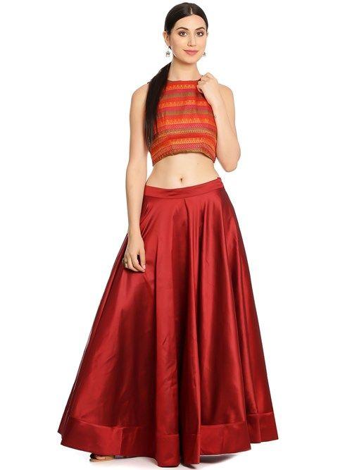 270c9552f9d Buy Online Biba Maroon Cotton Silk Kurta for Women   Girls at Best Prices  in Biba