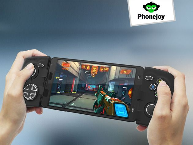 the phonejoy pro gamer bundle turn your phone into a console a bluetooth game