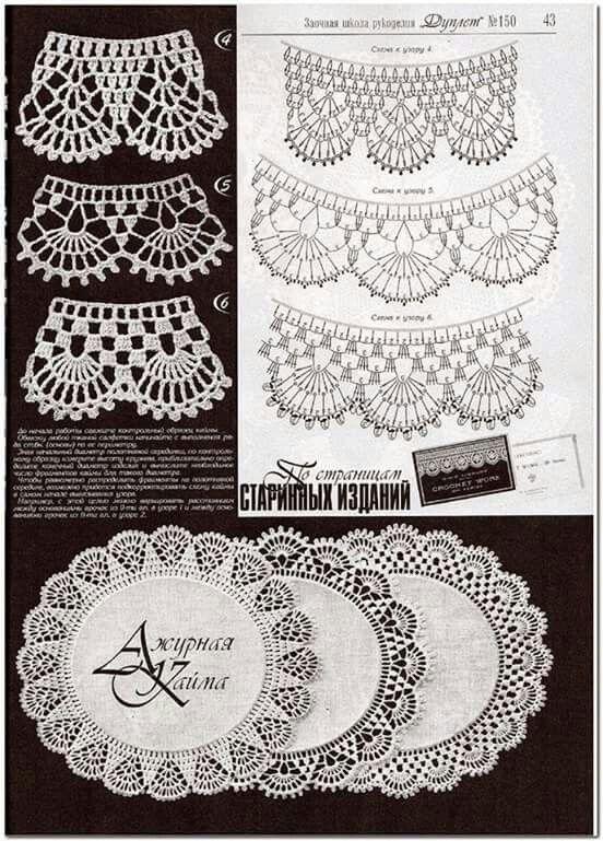 Borde redondo   1 Bordes Crochet   Pinterest   Bordes de ganchillo ...
