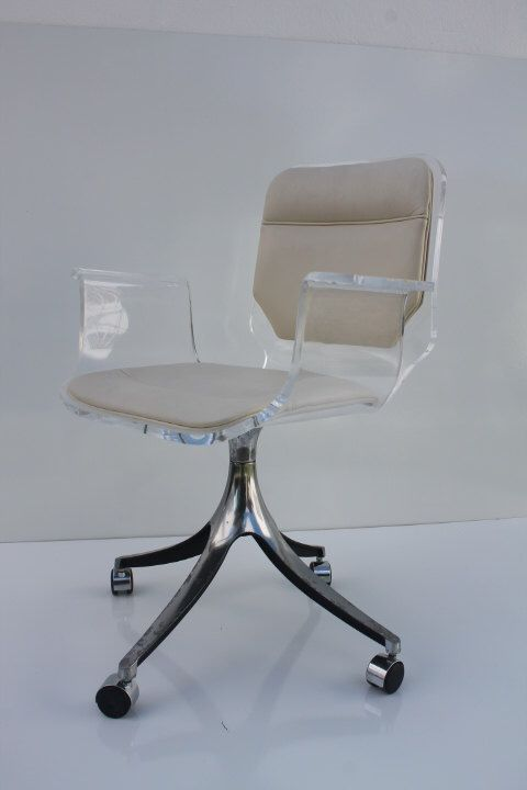 Stunning 1960u0027s Lucite Desk Chair On Chrome Swivel Base. By Miamishores1985  On Etsy Https://www.etsy.com/listing/233804978/stunning 1960s Lucite Desk  Chair  ...