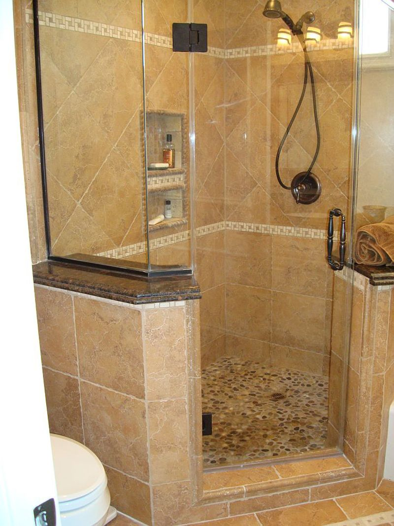 Small Bathroom Redesign Extraordinary Small Bathroom Ideas With Corner Shower Only Pics