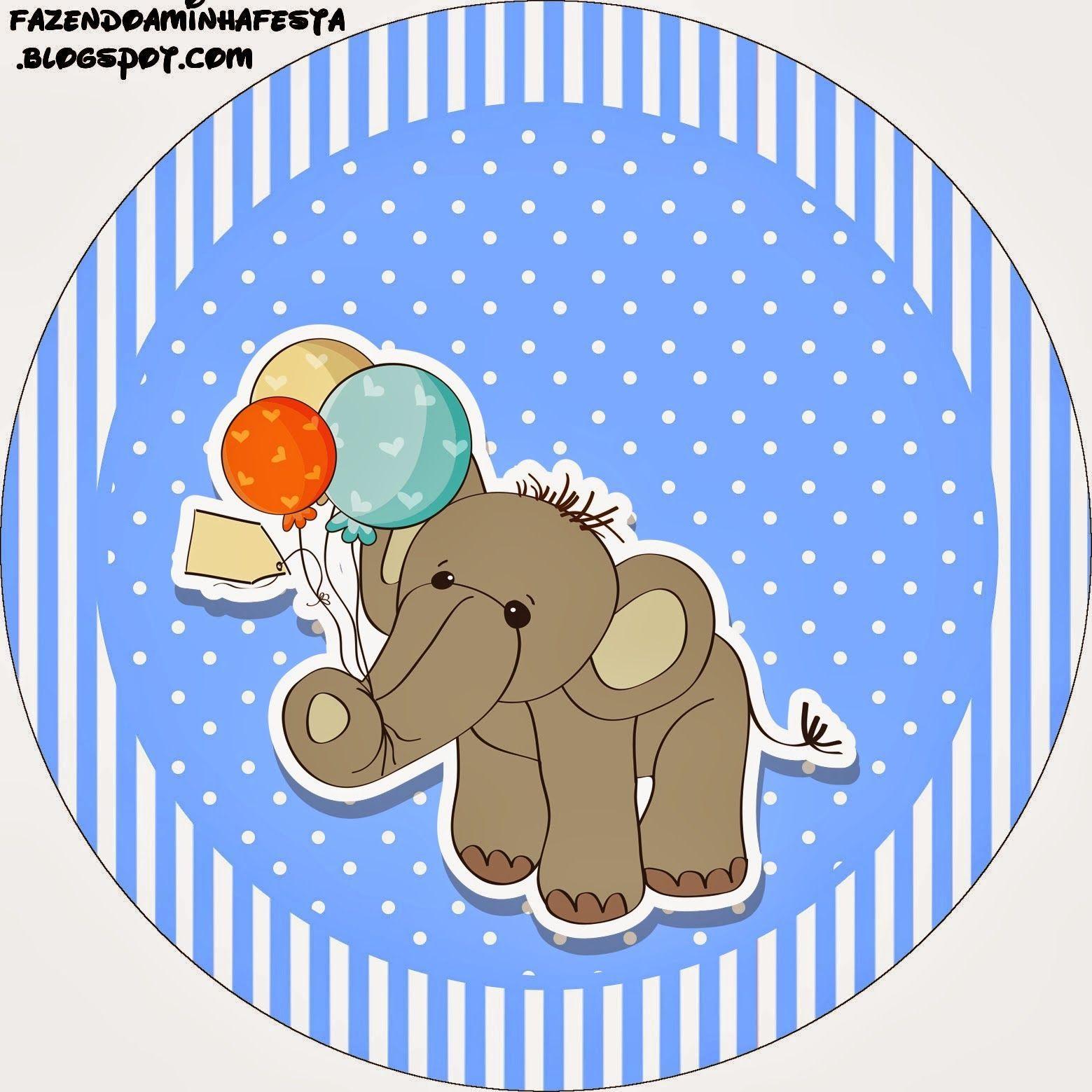 Elefante Para Baby Shower: Etiquetas Para Candy Bar Para