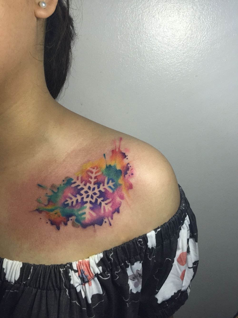 Image result for snowflake tattoo shoulder