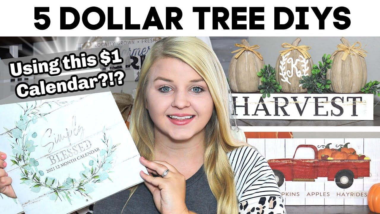 5 Dollar Tree Diys Using This 1 Calendar New Diy Dollar Tree Fall 2020 Krafts By Katelyn Yout In 2020 Dollar Tree Diy Fall Decor Dollar Tree Dollar Tree Fall