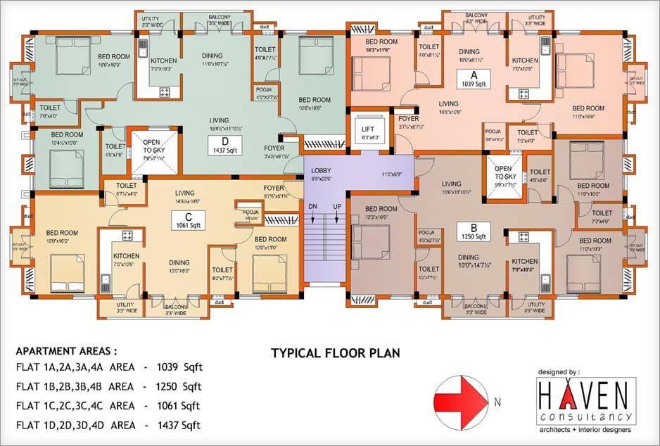 Apartment building floor plans awesome photography for Apartment building plans 4 units