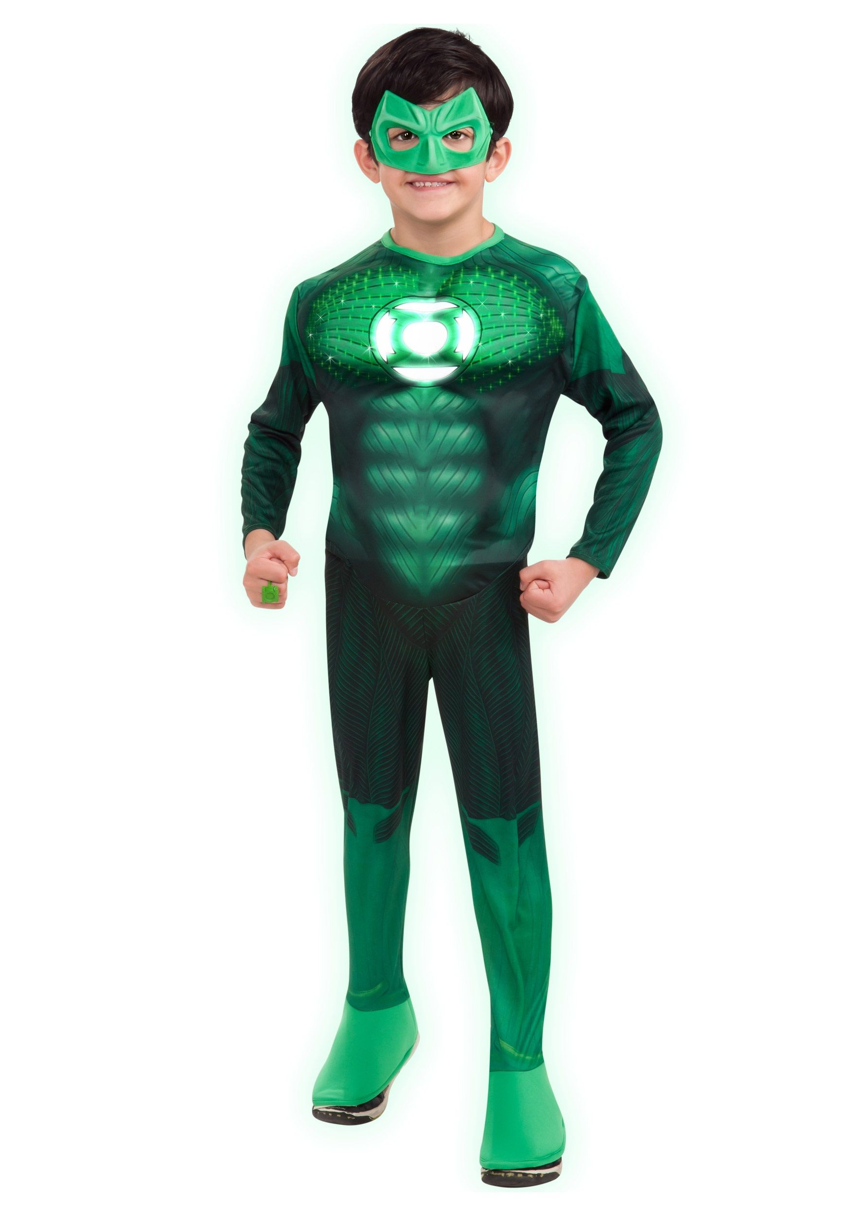 Kids Light-Up Green Lantern Costume | Green lantern costume