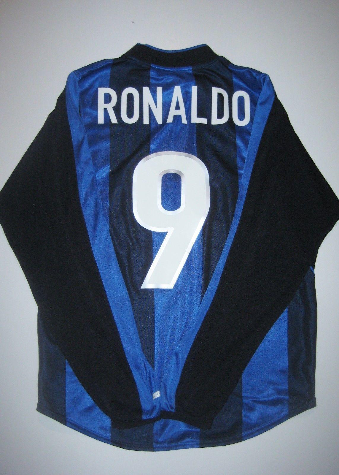 bb3e67ca0 Nike Inter Milan Ronaldo  9 Jersey Kit Shirt Brazil 2000-2001 Long Sleeve  L S (eBay Link)