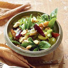 Zwetschgen-Trauben-Salat