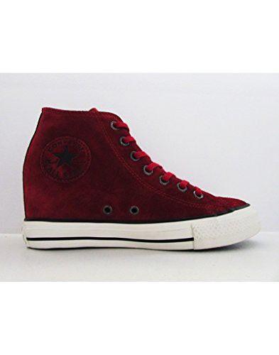 67ec8c70dfaa Converse Chuck Taylor Lux Mid 550671C Dahlia Black Egret Hidden Platform Wedge  Women s Shoes (size 6)