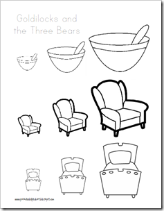 Goldilocks And The Three Bears Coloring Pages Bed