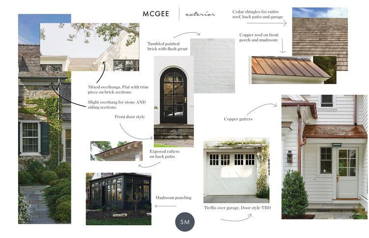 The Mcgee Home Exterior The Details In 2020 House Exterior Rustic Houses Exterior Porch Design