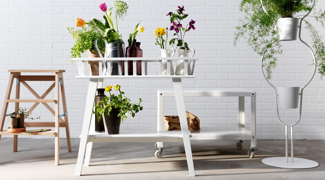 lantliv plant stand white stools plants and kitchens. Black Bedroom Furniture Sets. Home Design Ideas