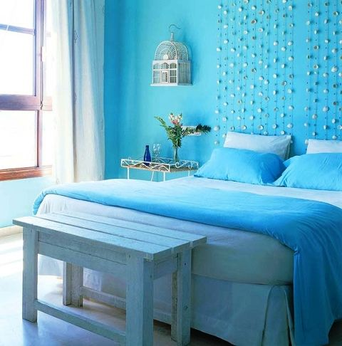 Blue sky paint colors for bedrooms kitchen color ideas for Best white paint for grow room