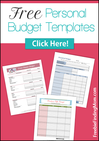 simple household budget templates