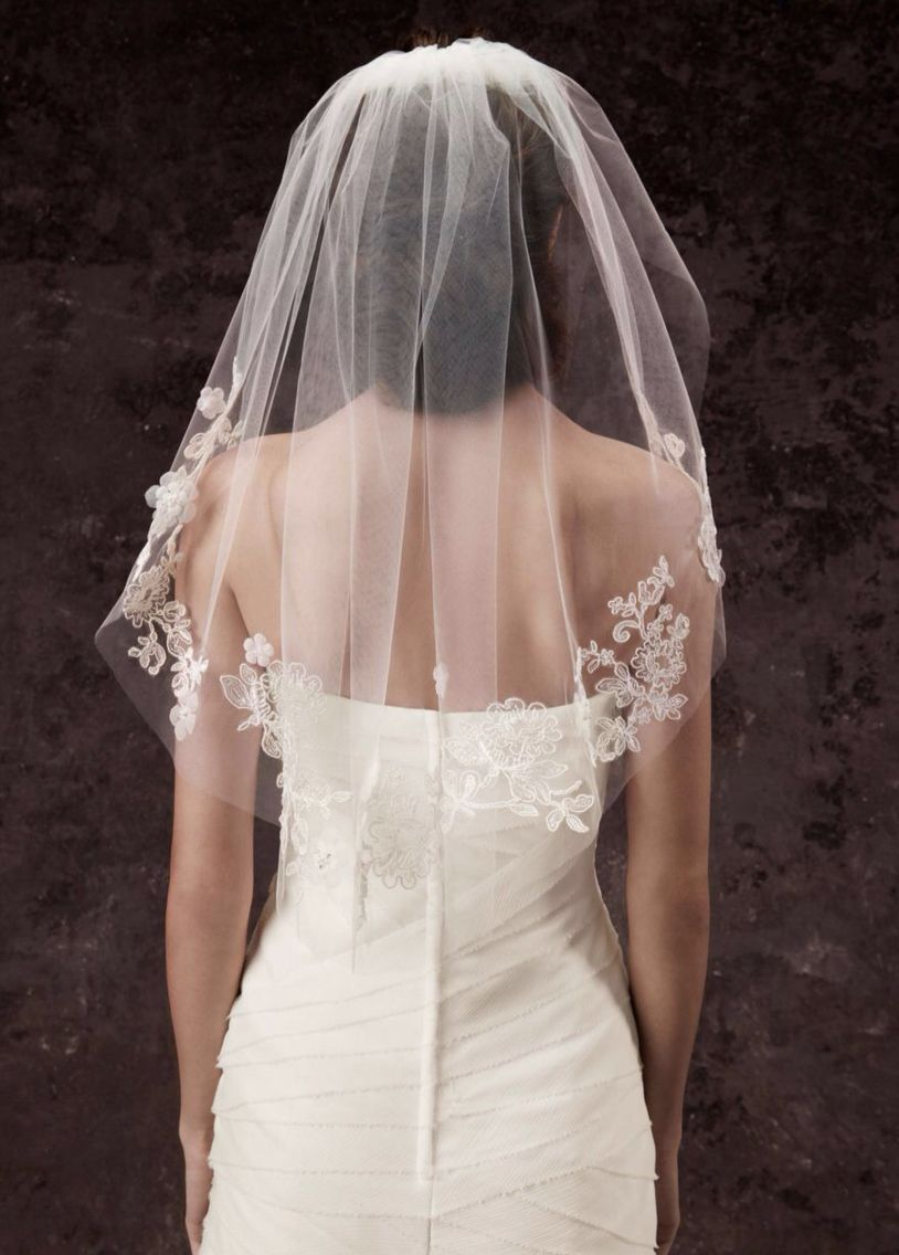Short Vail Verawang Wedding Veils Short Lace Veils Bridal
