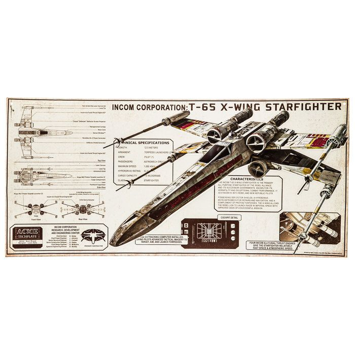 T 70 X Wing Fighter Metal Sign Galaxy Gates X Wing