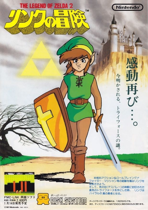 Nintendo The Legend of Zelda poster