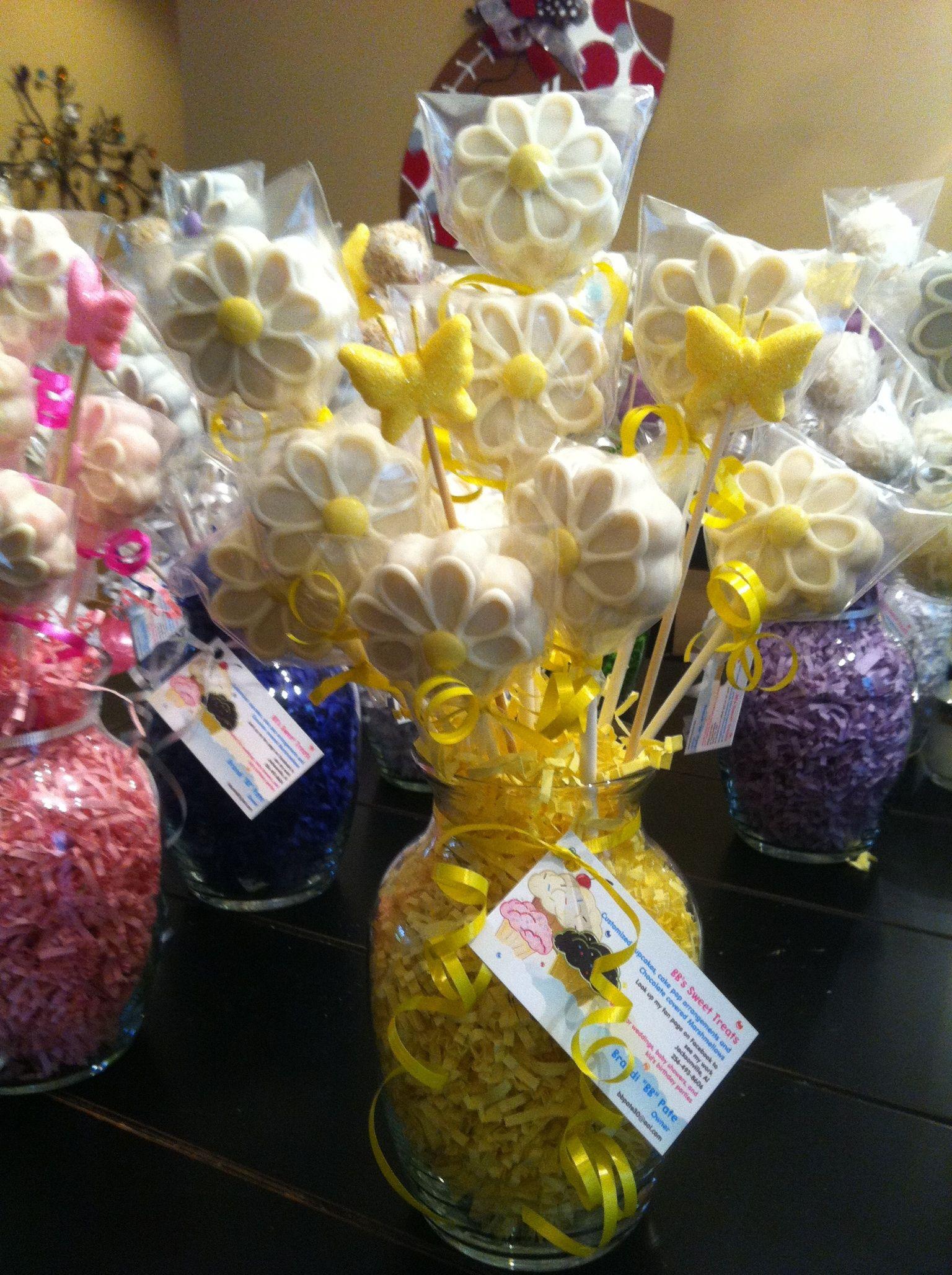 Cake pop arrangement $30