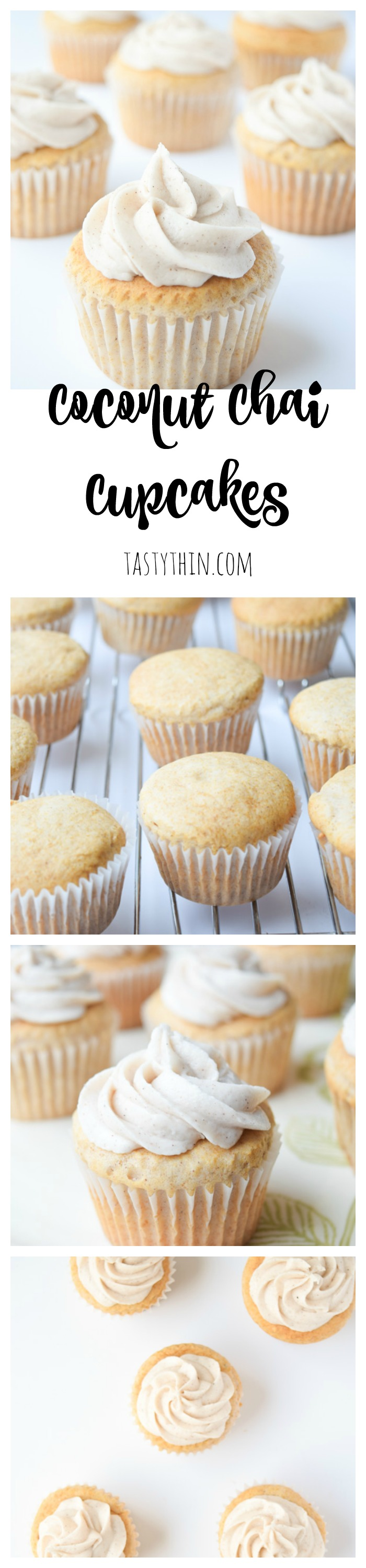 Coconut Chai Cupcakes With Vegan Buttercream Chai Spiked Cupcakes Made With Box Cake Mix And Coconu Yummy Food Dessert Delicious Cupcakes Recipes Eat Dessert