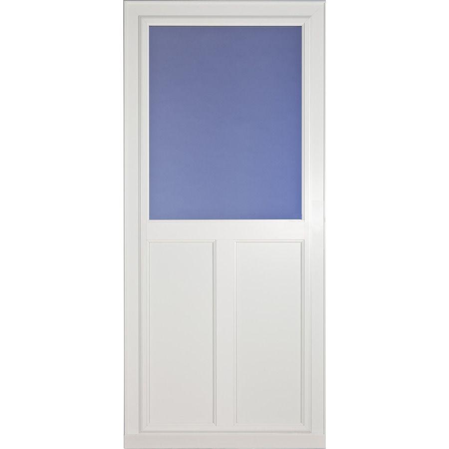 Larson Tradewinds Highview 36 In X 81 In White High View Aluminum Storm Door 14608032 In 2020 Aluminum Storm Doors Storm Door Retractable Screen