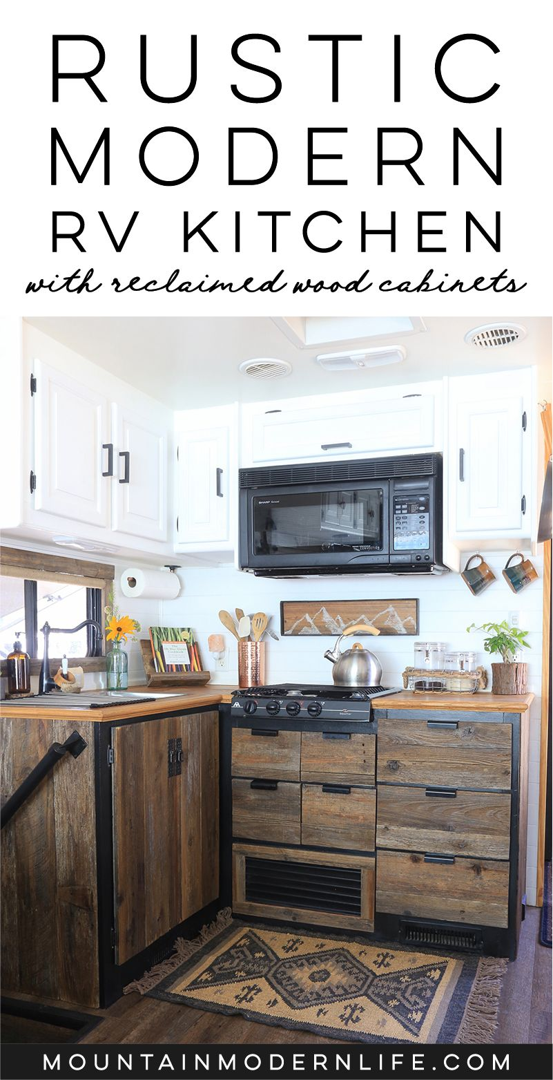 Rustic Modern Rv Kitchen With Reclaimed Wood Rustic Remodel