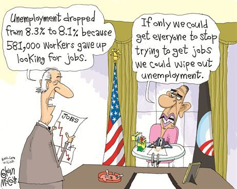 Image result for obama unemployment cartoon