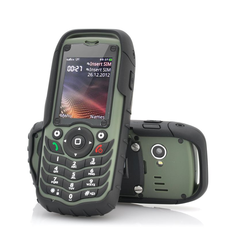 Fortis Dual Sim Rugged Cell Phone Ip67 Waterproof Dustproof Shockproof Green