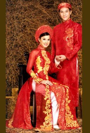 Red Ao Dai Wedding Dress | Future Plans | Pinterest | Ao dai ...
