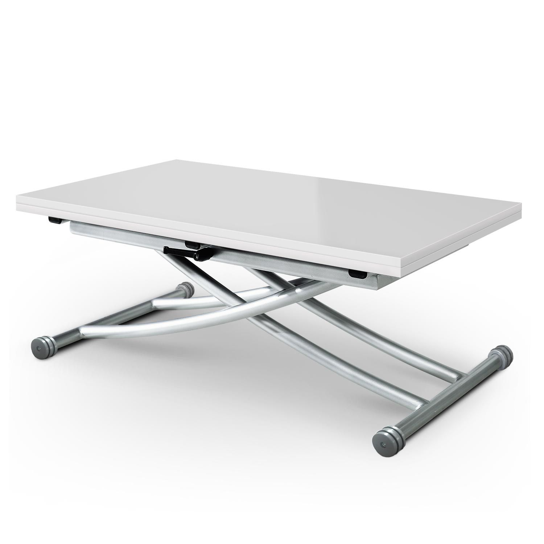 Table Basse Relevable Carrera Blanc Laque En 2020 Table Basse Relevable Table Basse Et Table Basse Relevable Extensible