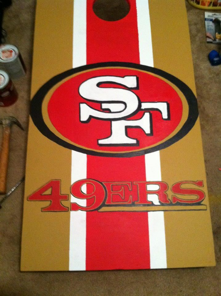 San Francisco 49ers Cornhole Board Cornhole Boards Corn Hole Diy Cornhole