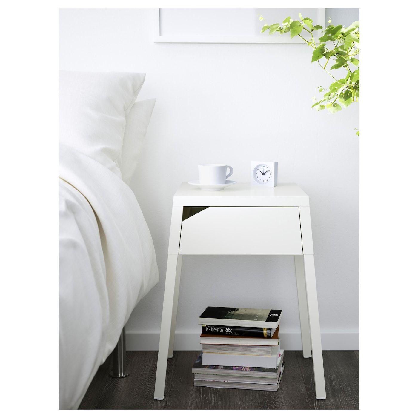 Selje Table De Chevet Blanc Aménagements Maison