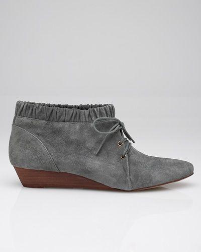 low suede booties.  $105