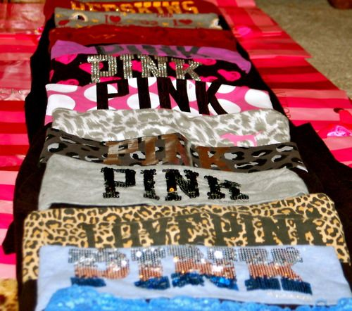 I am in love with PINK<3 especially the Redskins ones in the back(;