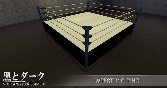 Ts4 Wrestling Ring Sims Sims 4 Japanese Living Rooms