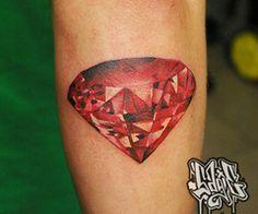 3d Ruby Tattoo Gem Tattoo Ruby Tattoo Diamond Tattoos