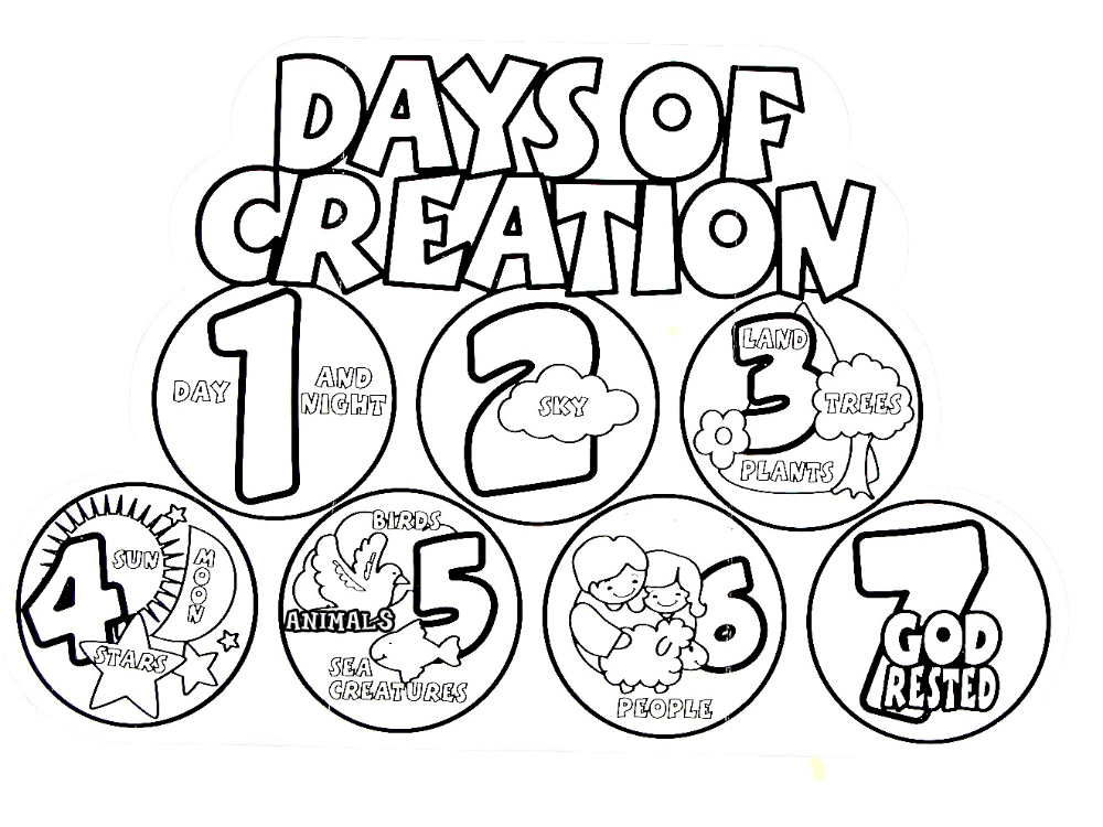 Impressive Days Of Creation Coloring Pages Beautiful Six Coloring Pages For Creation Creation Coloring Pages Sunday School Coloring Pages Days Of Creation
